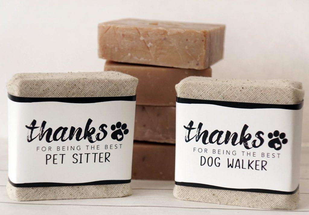 Dog Walker GIft Soap via Etsy.