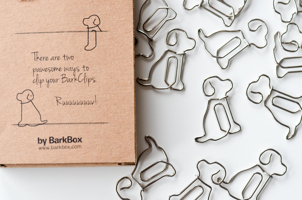 Bark Clips dog shaped paper clips.
