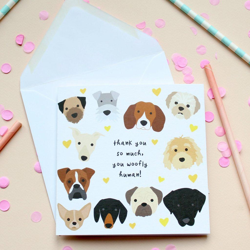 Dog Thank You Card via Etsy.