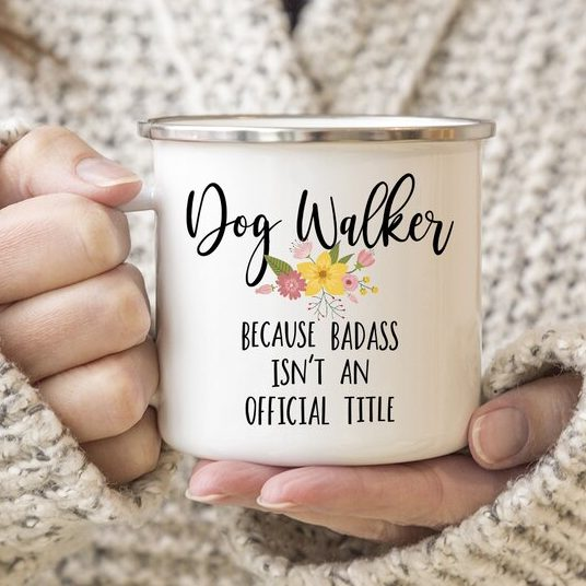 Badass Dog Walker Mug from Wayfair.