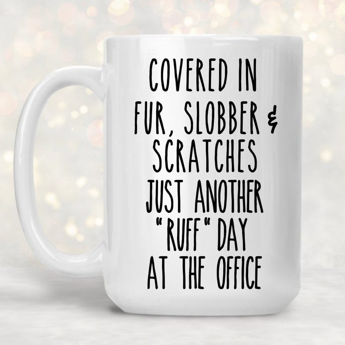 Funny Gift Mug for Dog Walkers via Etsy.