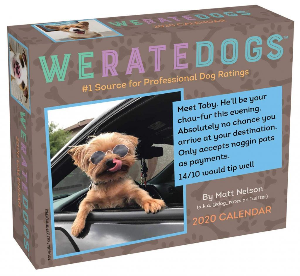 We Rate Dogs - Dog-a-day calendar via Amazon.