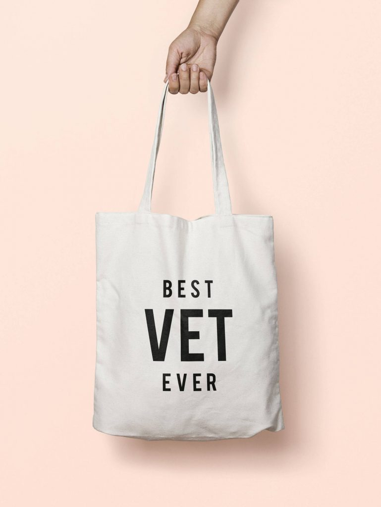'Best Vet Ever' tote bag via Etsy.