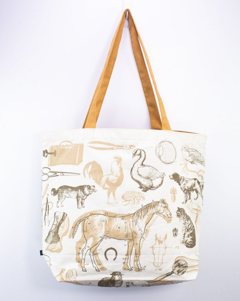 Veterinary Science Ullustration Tote Bag, gifts ideas for Vets, via Etsy.