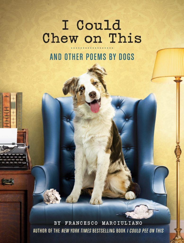 Funny dog poem book, dog lover gift, 'I Could Chew on this' via Amazon.