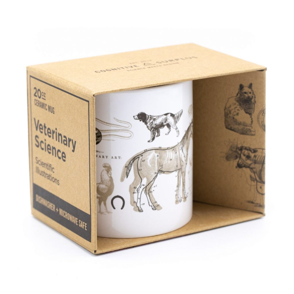 Veterinary Science 20oz mug via Etsy, Vet gifts.