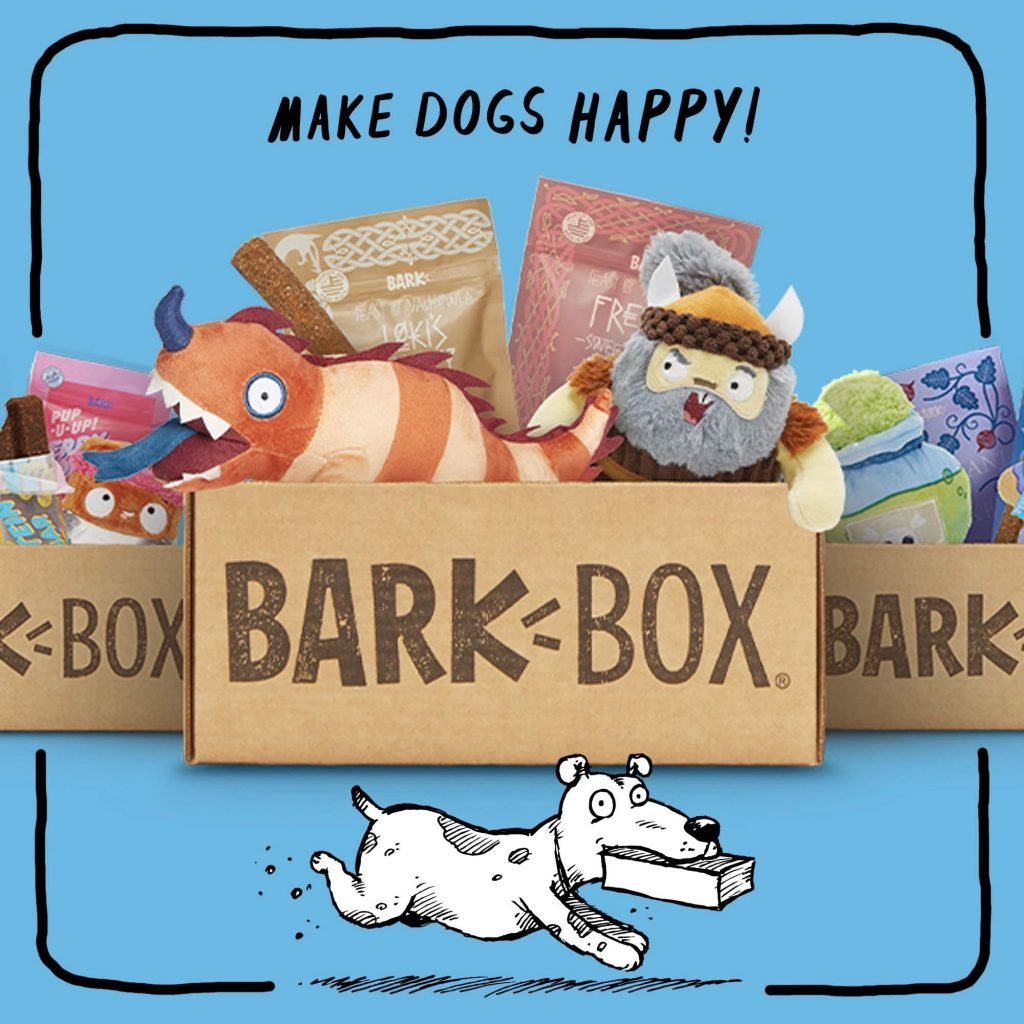 Original BarkBox Subscription Dog Box, doggy gift baskets.