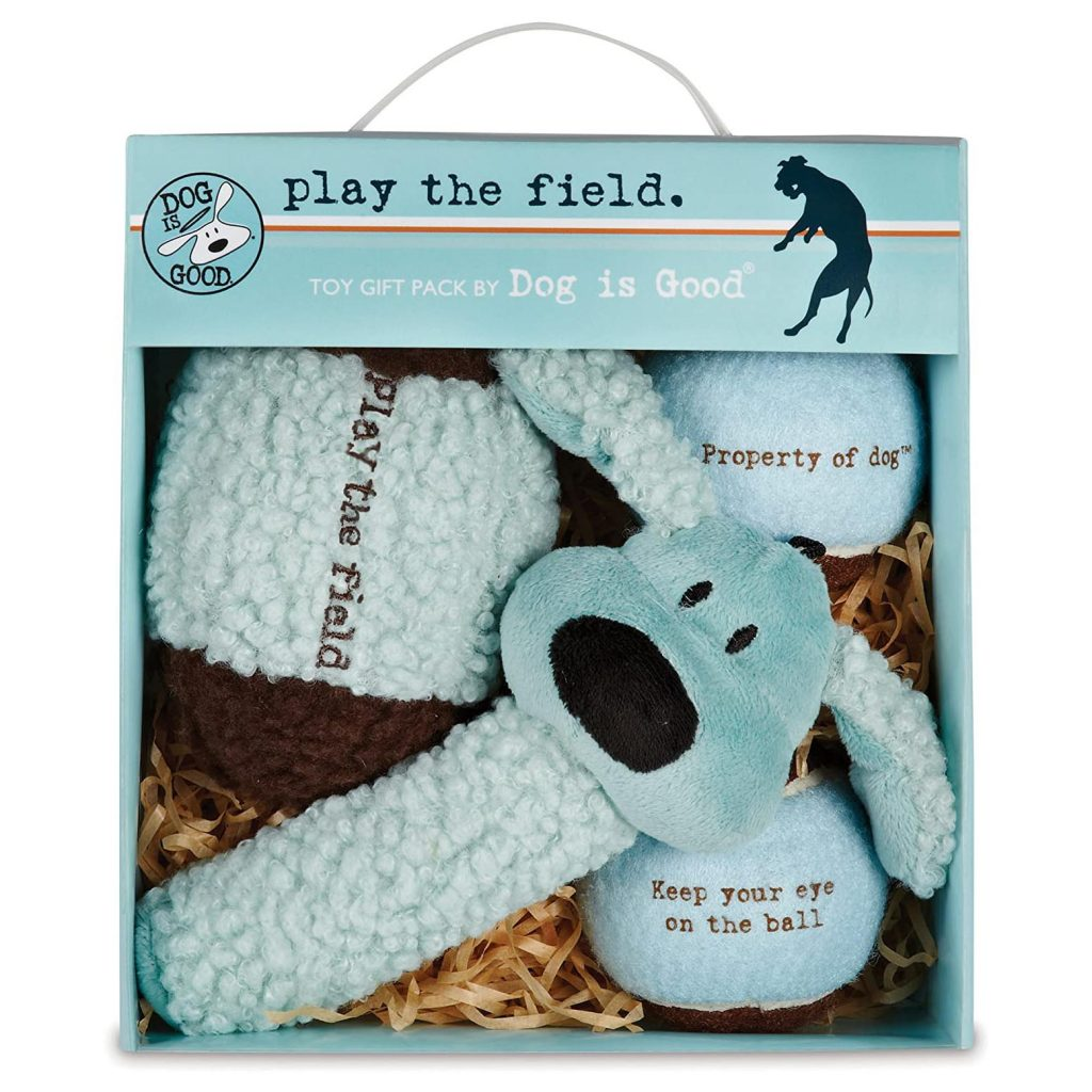 Dog is Good 4 Piece Dog Toy Gift Pack via Amazon.