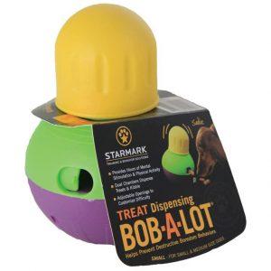 Treat Dispensing Bob-a-lot dog toy via Amazon.