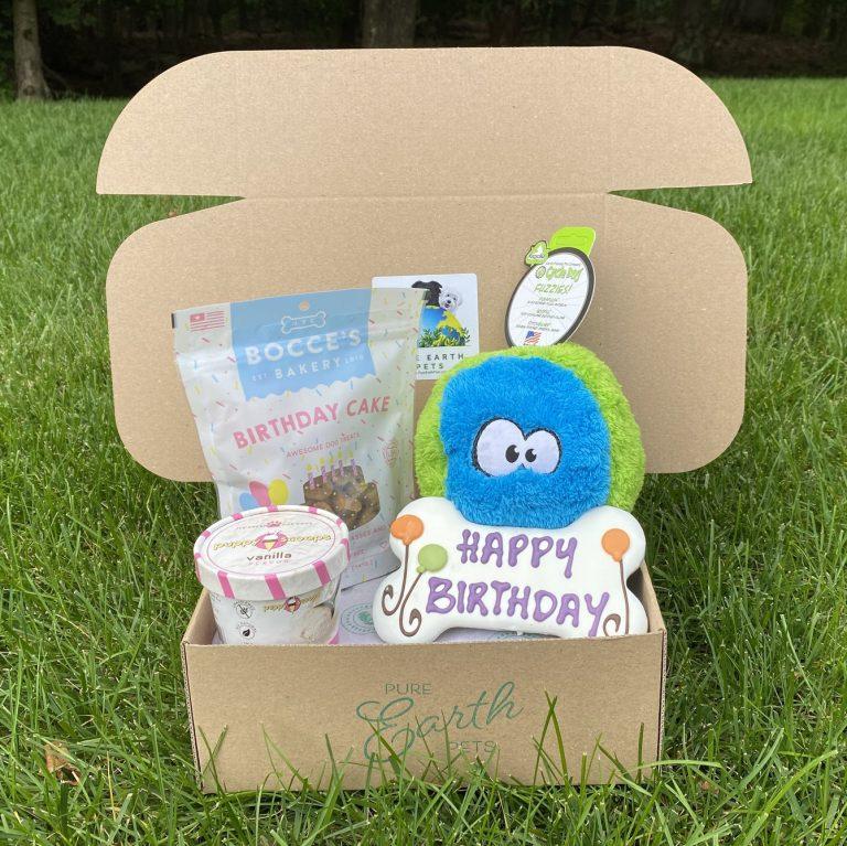 PURE EARTH PETS ECO-FRIENDLY DOG BIRTHDAY BOX