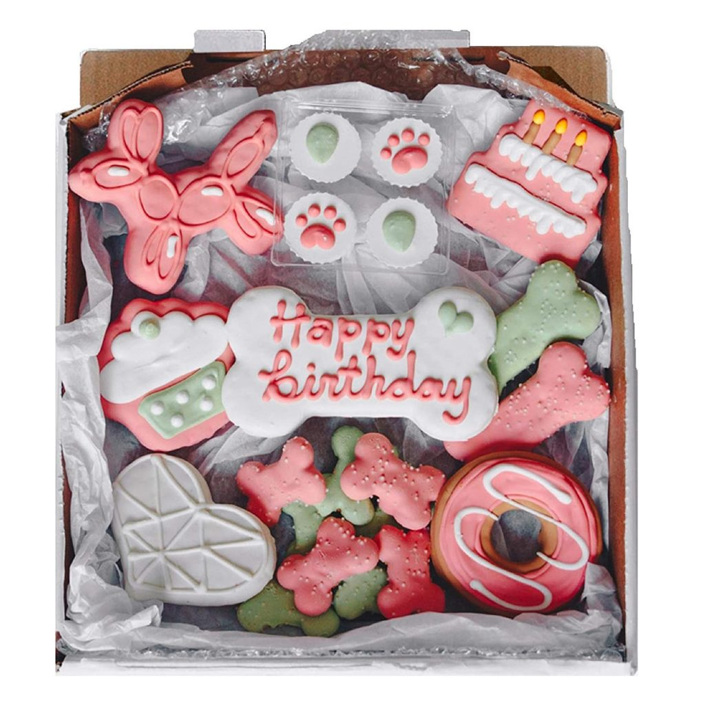 Wüfers Dog Birthday Cookie Box via Amazon, dog birthday treats.
