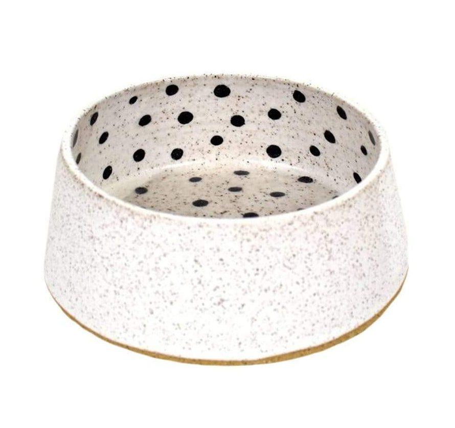 Dot Ceramic Dog Bowl via Design Milk