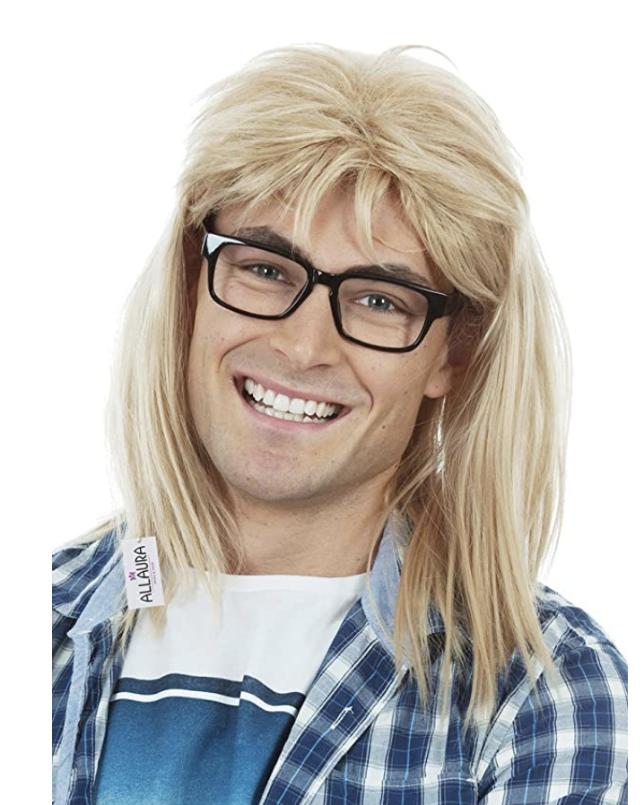 90s Rocker Novelty Garth Wig and Glasses via Amazon