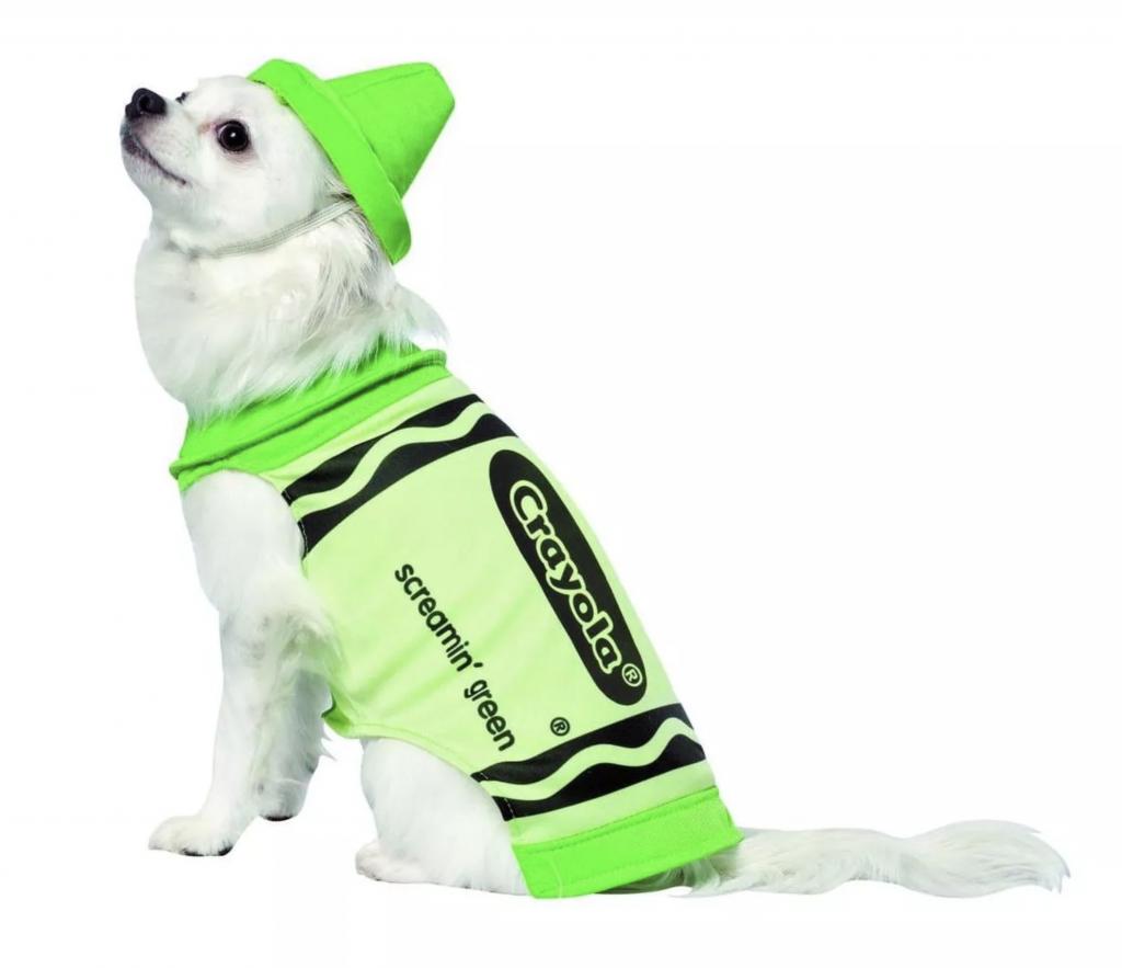 Crayola Screamin' Green Pet Dog Costume – Rasta Imposta via Target