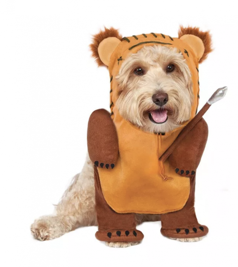 Halloween Costumes for Goldendoodles - Running Ewok Pet Costume via Target