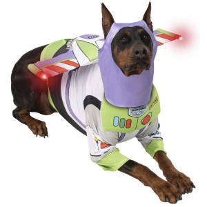 Toy Story Buzz Lightyear Pet Costume for Big Dogs via Amazon by Rubie's Costume Company, Halloween Costumes for Extra Large Dogs.