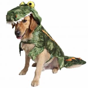 Alligator Dog Costume Jumpsuit from Coppthinktu on Amazon.