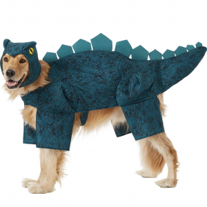 Stegosaurus Dinosaur Dog Costume by Frisco via Chewy, Halloween Costumes for Extra Large Dogs.