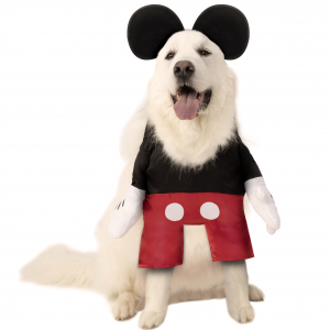 Walking Mickey Mouse Dog Costume by Rubie's Costume Company from Chewy, Halloween Costumes for Extra Large Dogs.