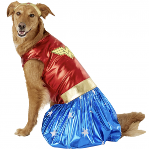 Wonder Woman Dog Costume by Rubie's Costume Company via Chewy, Halloween Costumes for Extra Large Dogs.