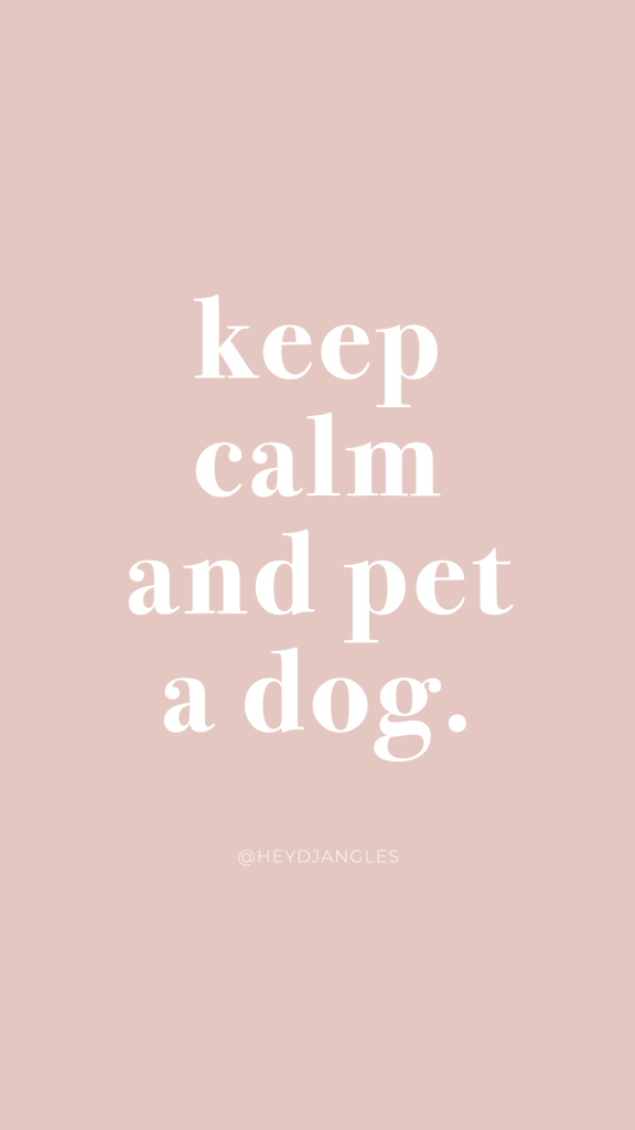 Keep calm and pet a dog - funny dog quote, words to live by. Dogs make everything better.