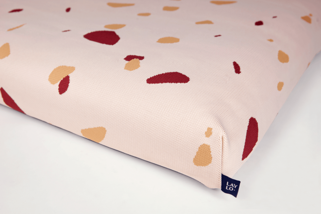 ROUND-UP: Peach Dog Accessories feat. Terrazzo Pink Dog Bed from Laylo Pets (Design Milk)