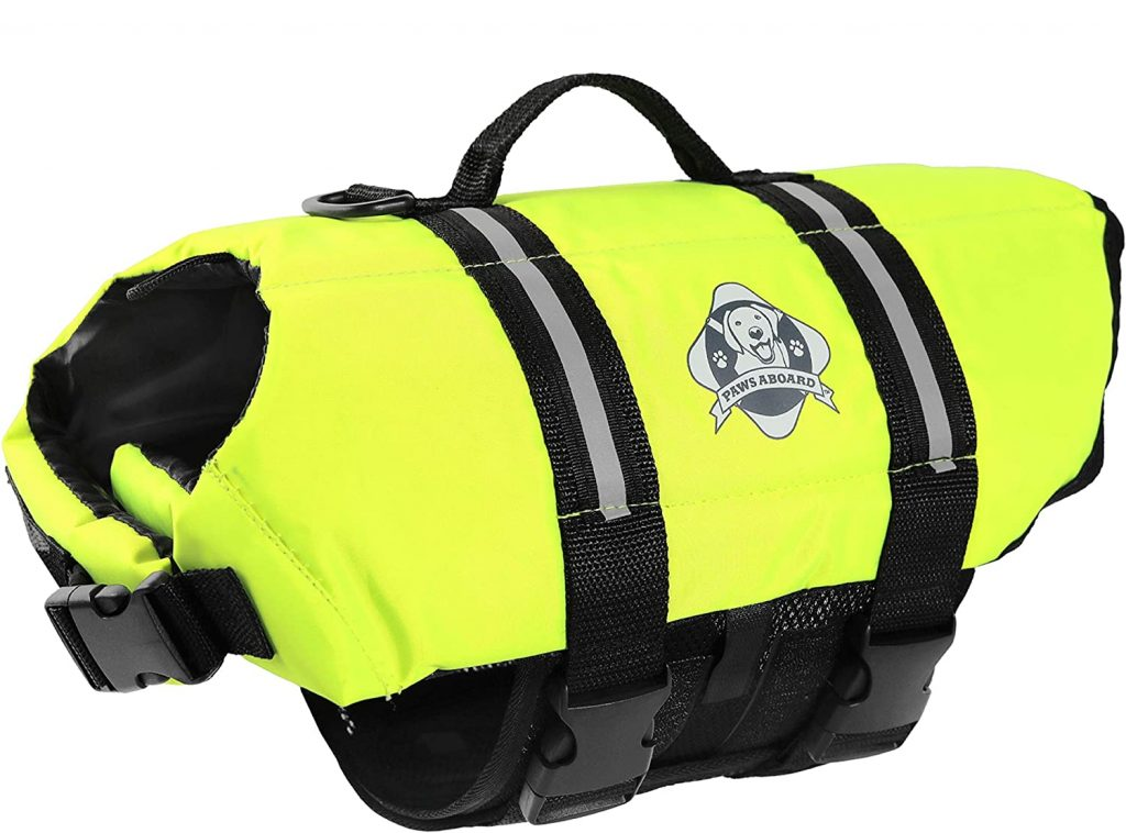 Paws Aboard Dog Life Jacket via Amazon
