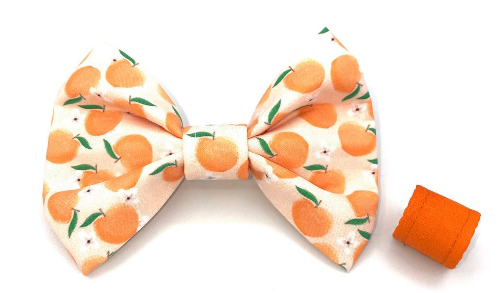 ROUND-UP: Peach Dog Accessories feat. Peach Bow Tie from Stella Mae and Co (Etsy)