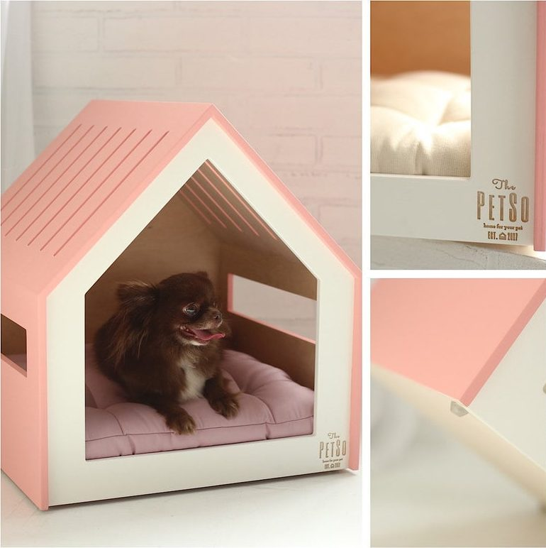 ROUND-UP: Peach Dog Accessories feat. Pink Dog House from Nice People Workshop (Etsy)