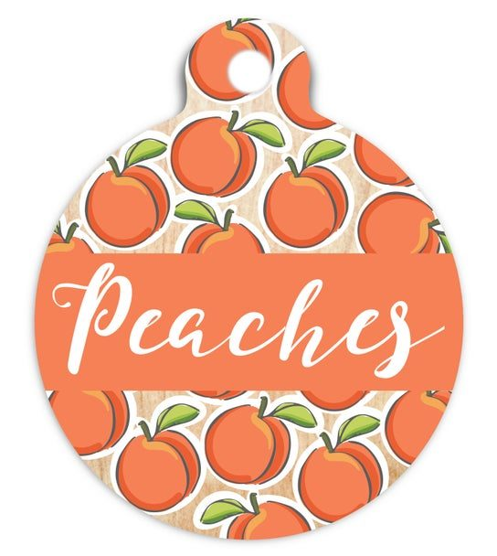 ROUND-UP: Peach Dog Accessories feat. Peach Dog Tag from Wagn Tags (Etsy)