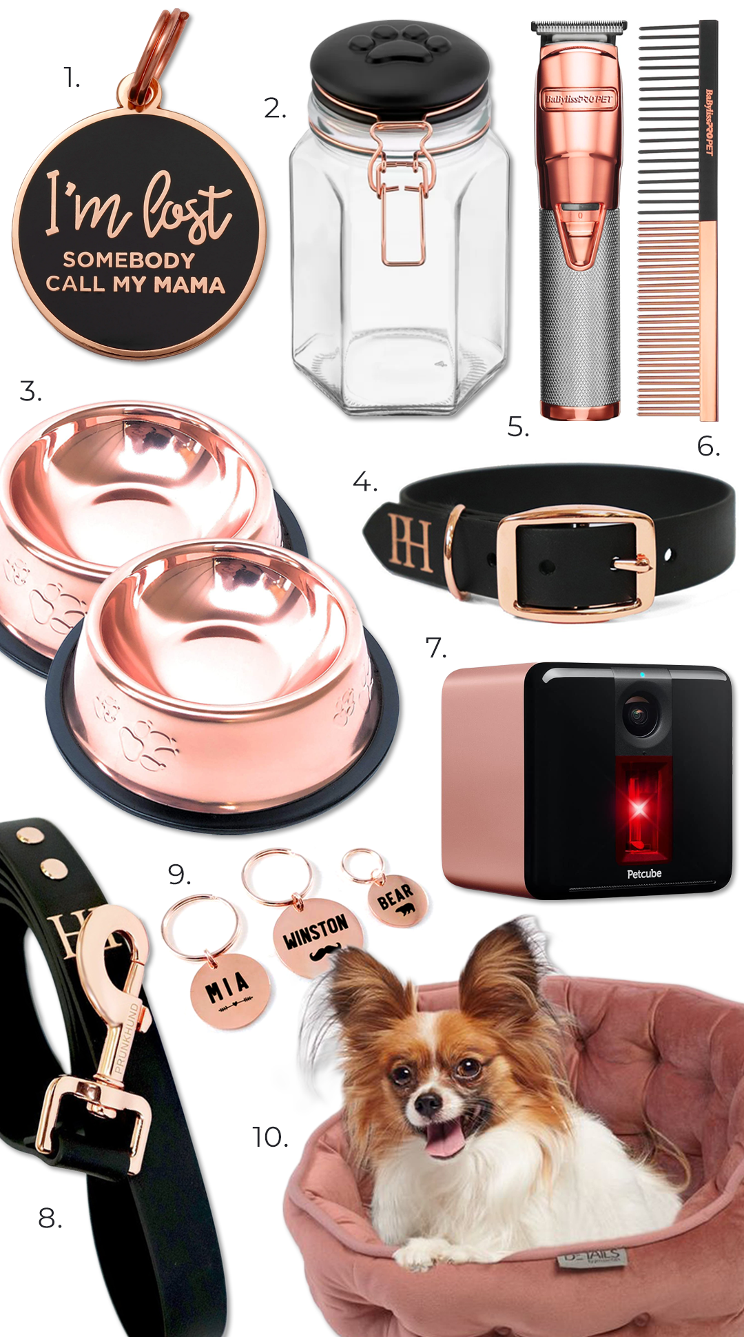 ROUND-UP: Stylish Rose Gold Dog Accessories