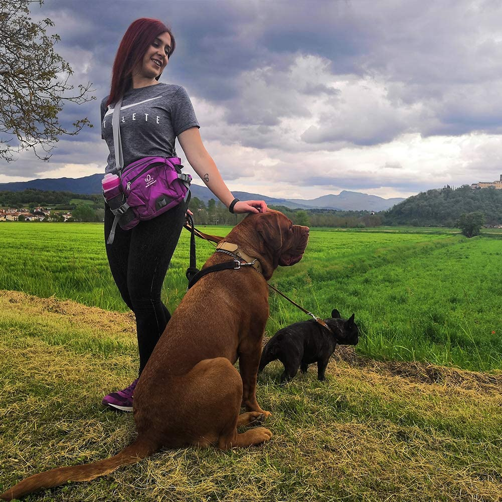 17 Best Fanny Packs and Bags for Dog Walking - feat. Waterfly Fanny Pack with Water Bottle Holder Hiking Waist Pack (Image via Waterfly/Amazon)