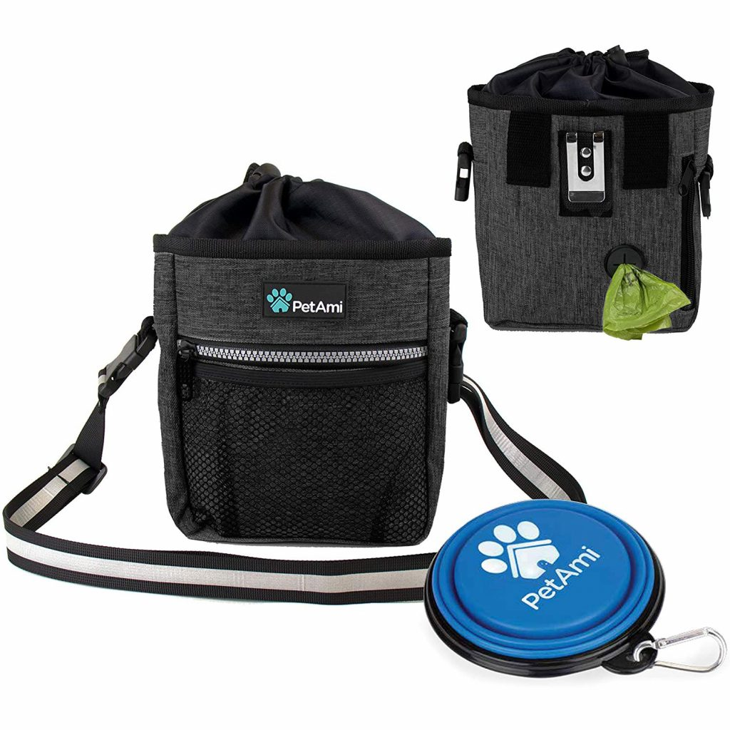 Shoulder/Crossbody Bags for Dog Walking feat. PETAMI Dog Treat Training Pouch