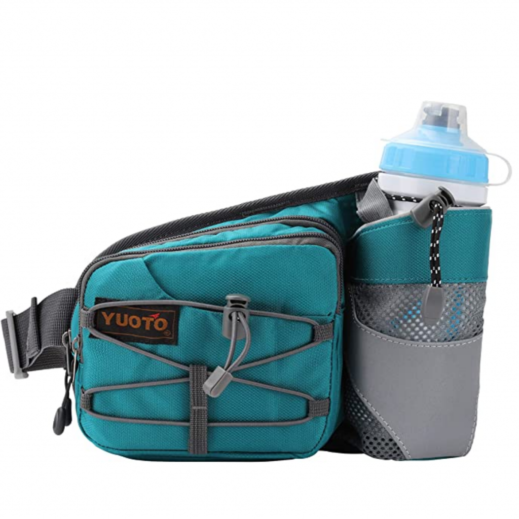 Fanny packs for dog walking feat. YUOTO Waist Pack with Water Bottle Holder (via Amazon)