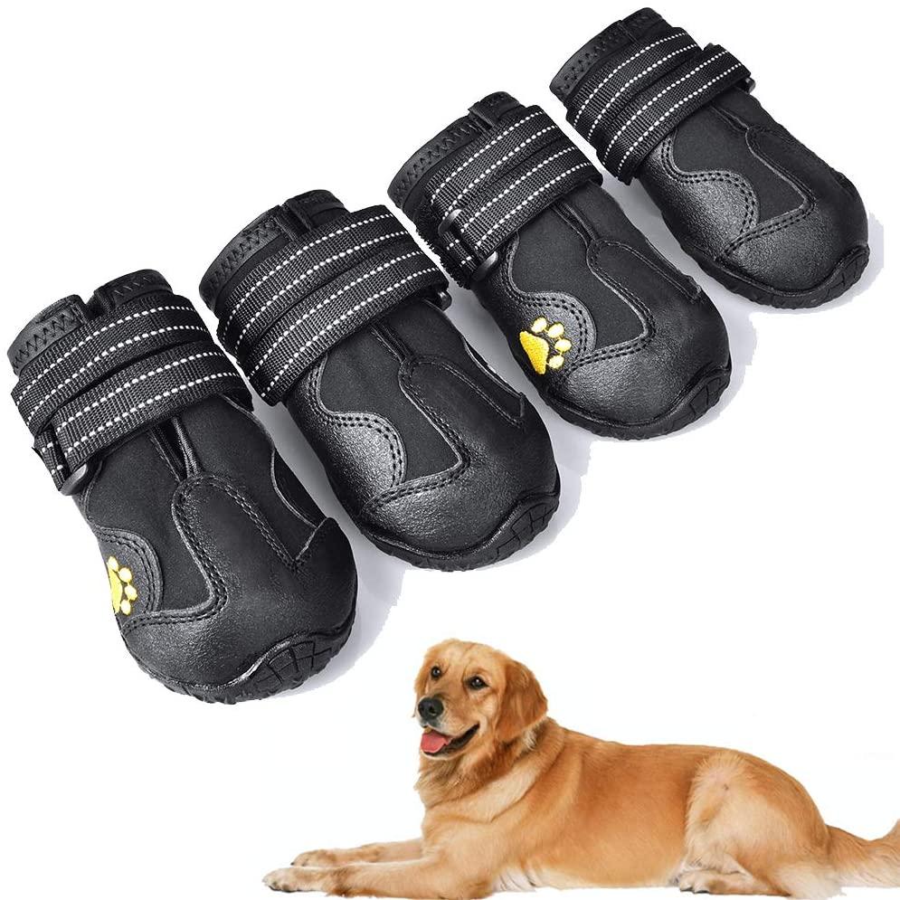 XSY&G Waterproof Dog Boots via Amazon