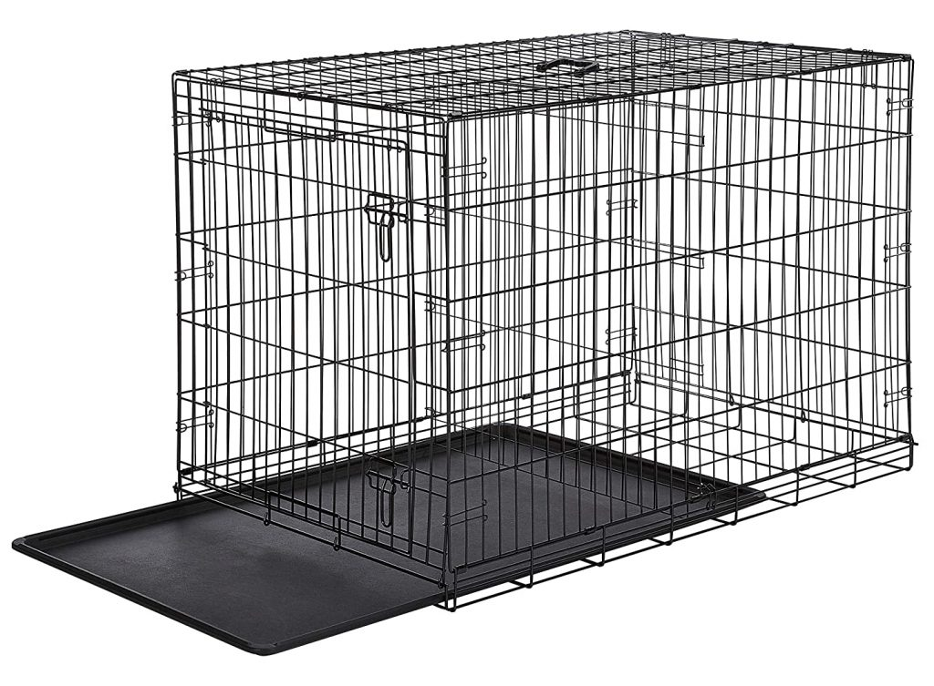 Single Door Folding Metal Dog Crate - AmazonBasics via Amazon