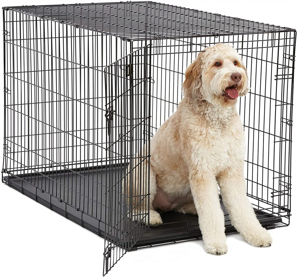 iCrate Folding Metal Dog Crate - MidWest Homes for Pets via Amazon