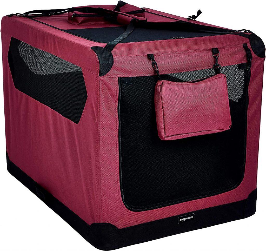 AmazonBasics Premium Folding Portable Soft Pet Crate, via Amazon