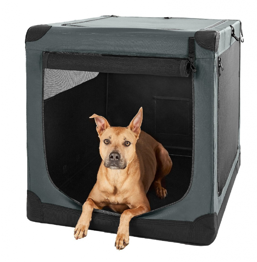 3-Door Collapsible Soft-Sided Dog Crate - Frisco, via Chewy