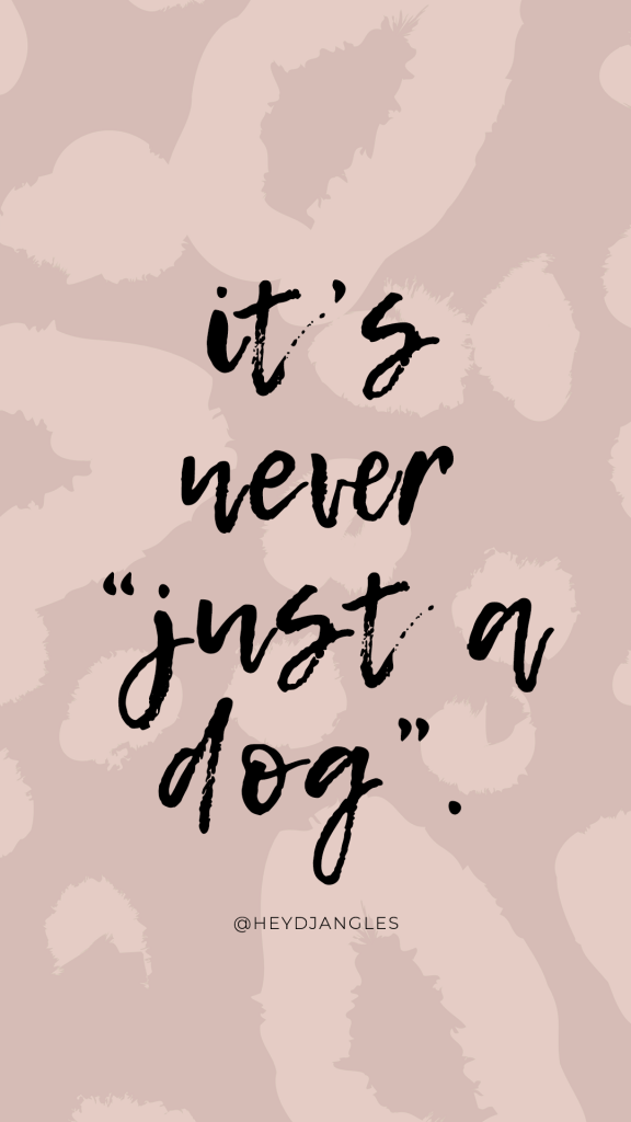 """Fact: It's never """"just a dog"""". #doglover"""