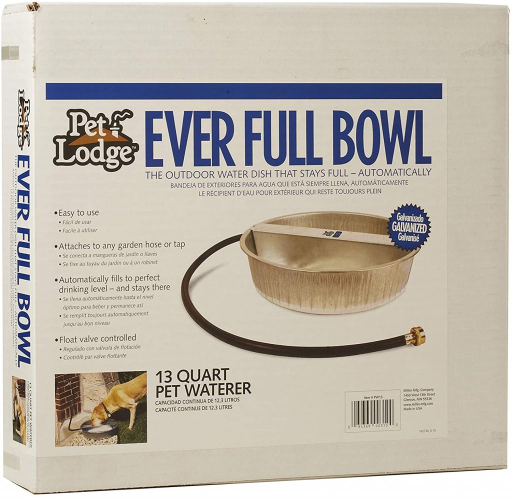LITTLE GIANT Pet Lodge Ever Full Bowl Automatic Pet Waterer via Amazon