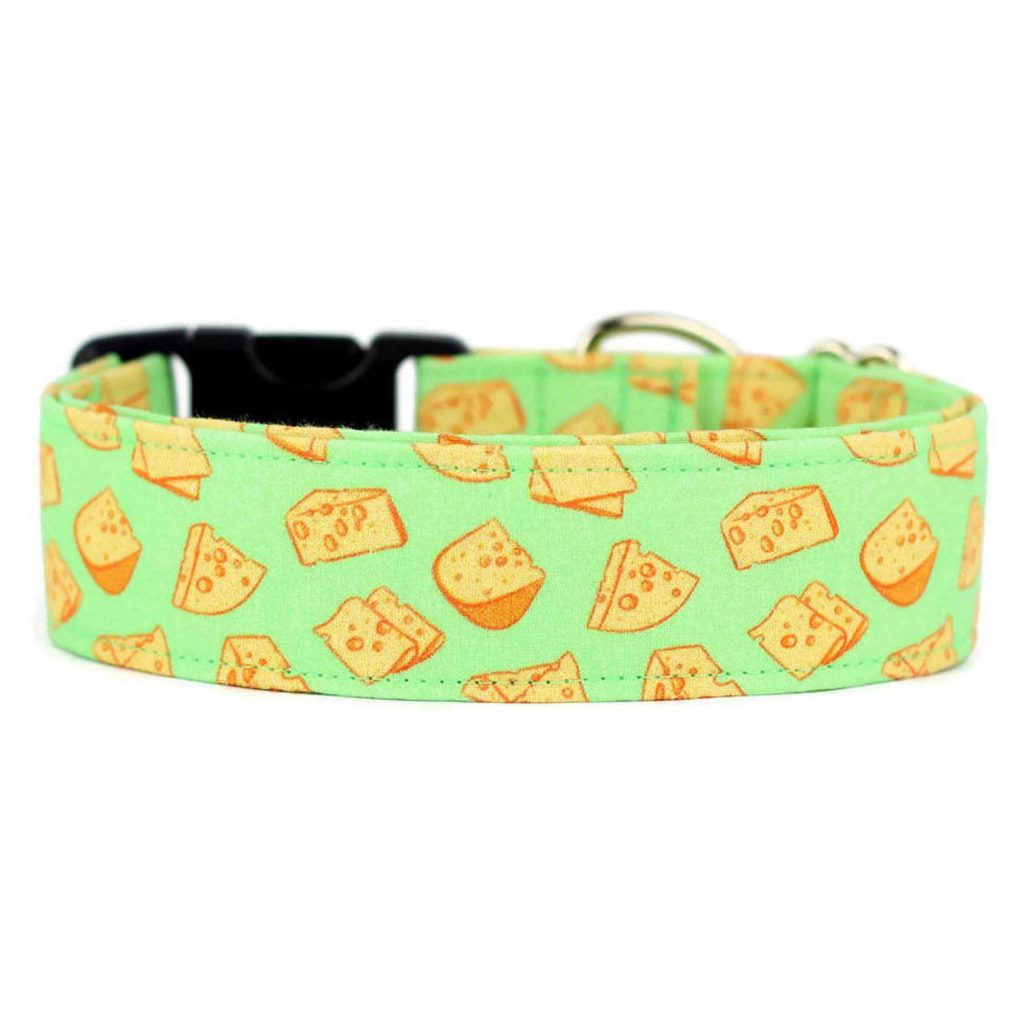 ANOMALY COLLAR CLUB Cheese Dog Collar via Etsy