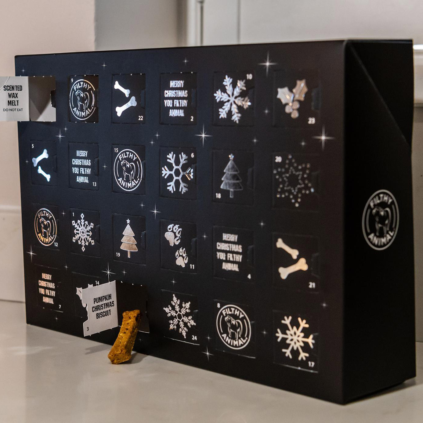 'The Best Advent Calendar in the World for Dogs' (via FilthyAnimalUK/Etsy)