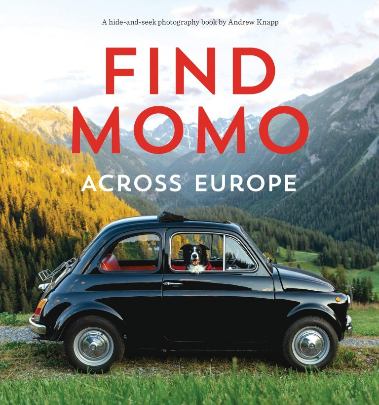 'Find Momo Across Europe' by Andrew Knapp - Dog Coffee Table Books