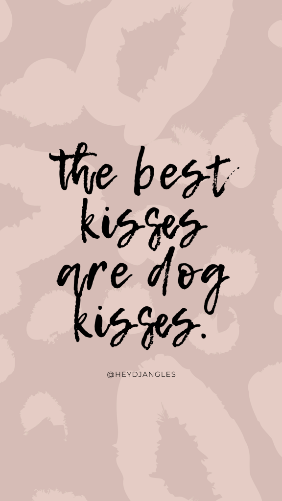 """""""The best kisses are dog kisses"""", quotes for dog lovers."""