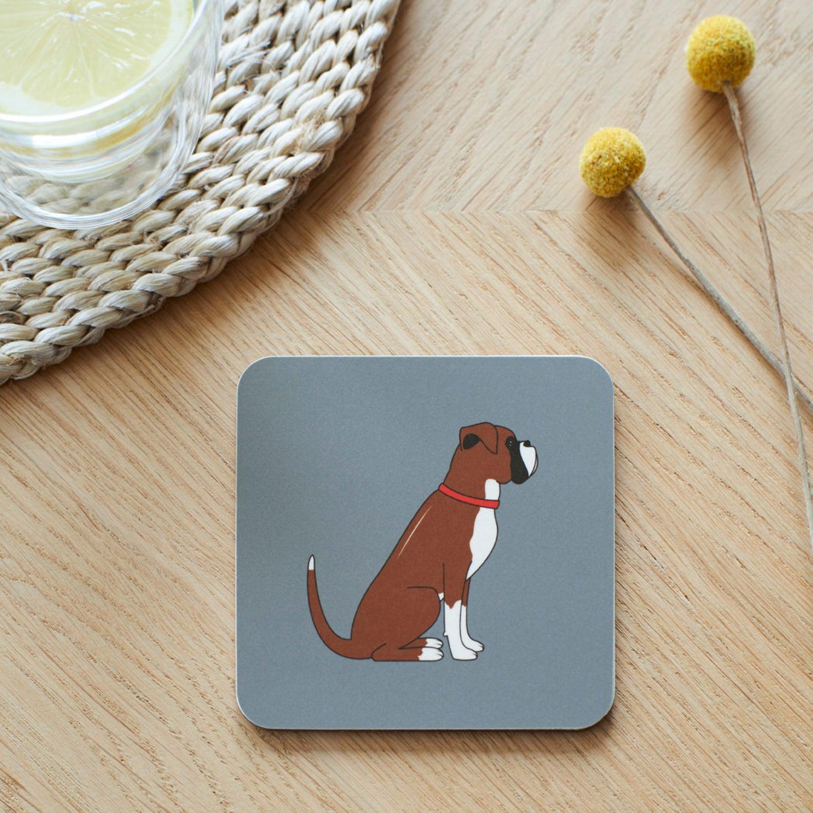Boxer Dog Coaster via SweetWilliamLondon on Etsy