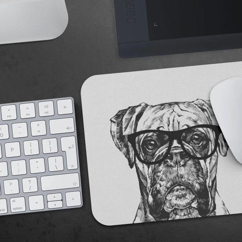 Boxer Dog Mouse Pad via RabbitPrint on Etsy