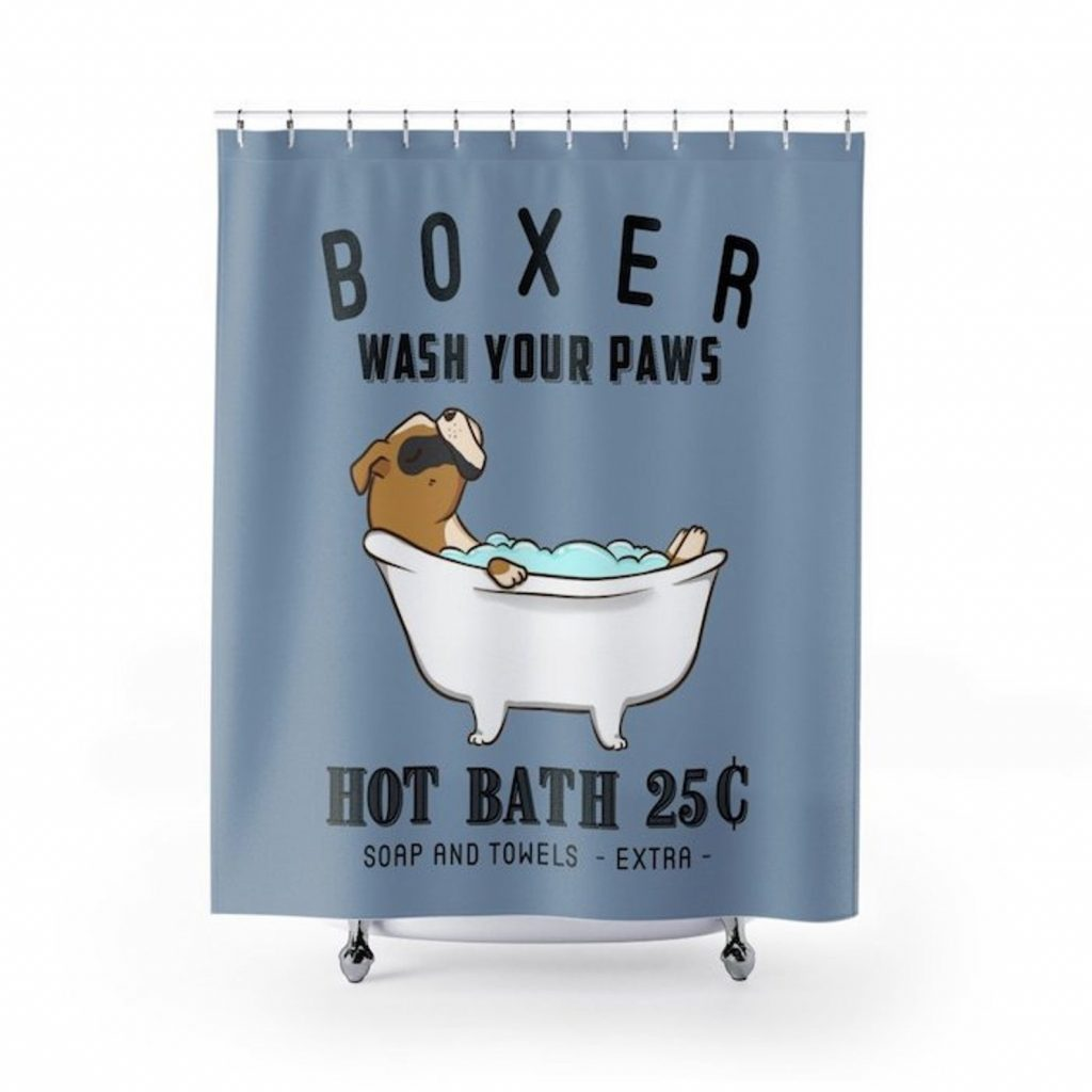 Boxer Dog Shower Curtain via RabbitPrint on Etsy
