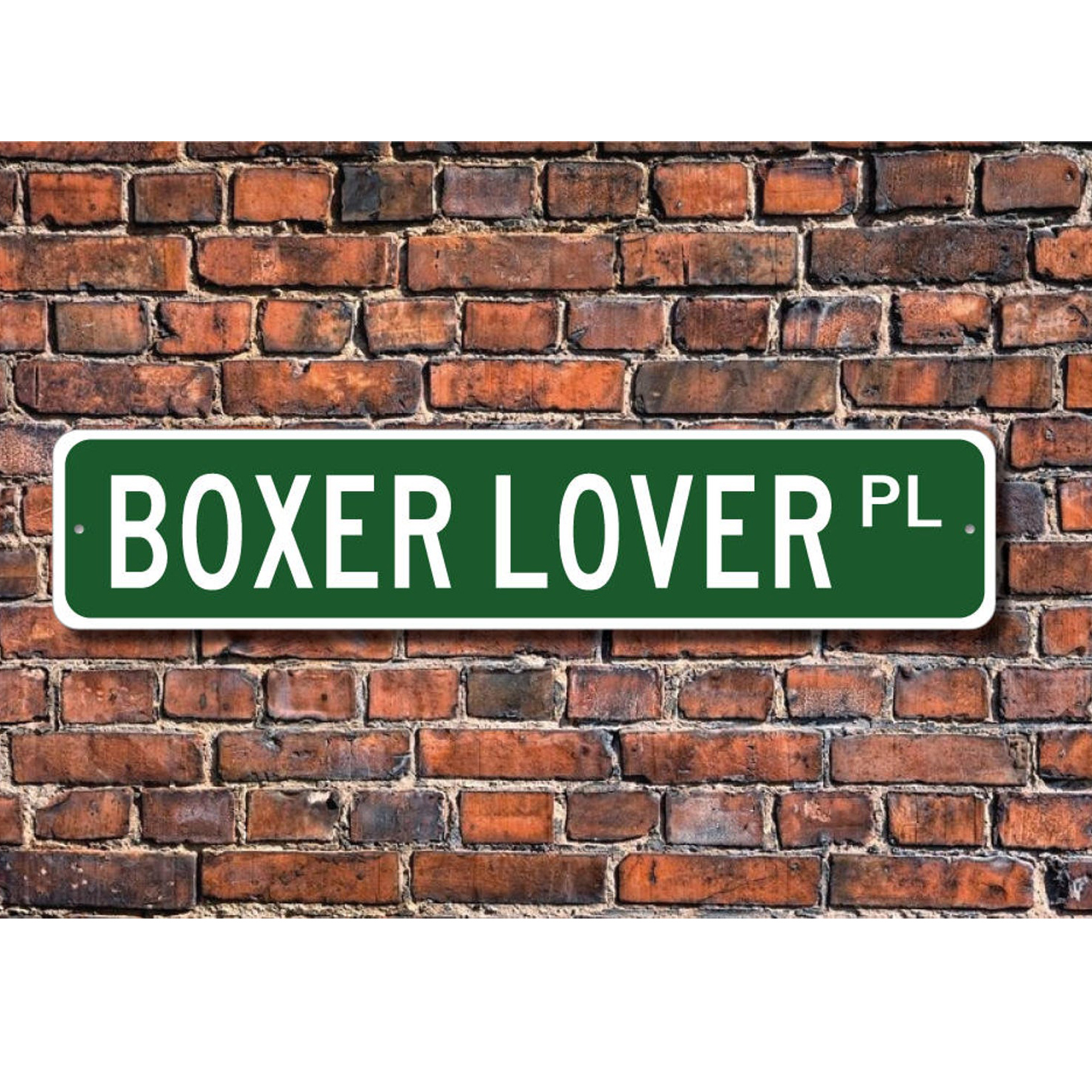 Boxer Lover Street Sign via ezStreetSignsCom on Etsy