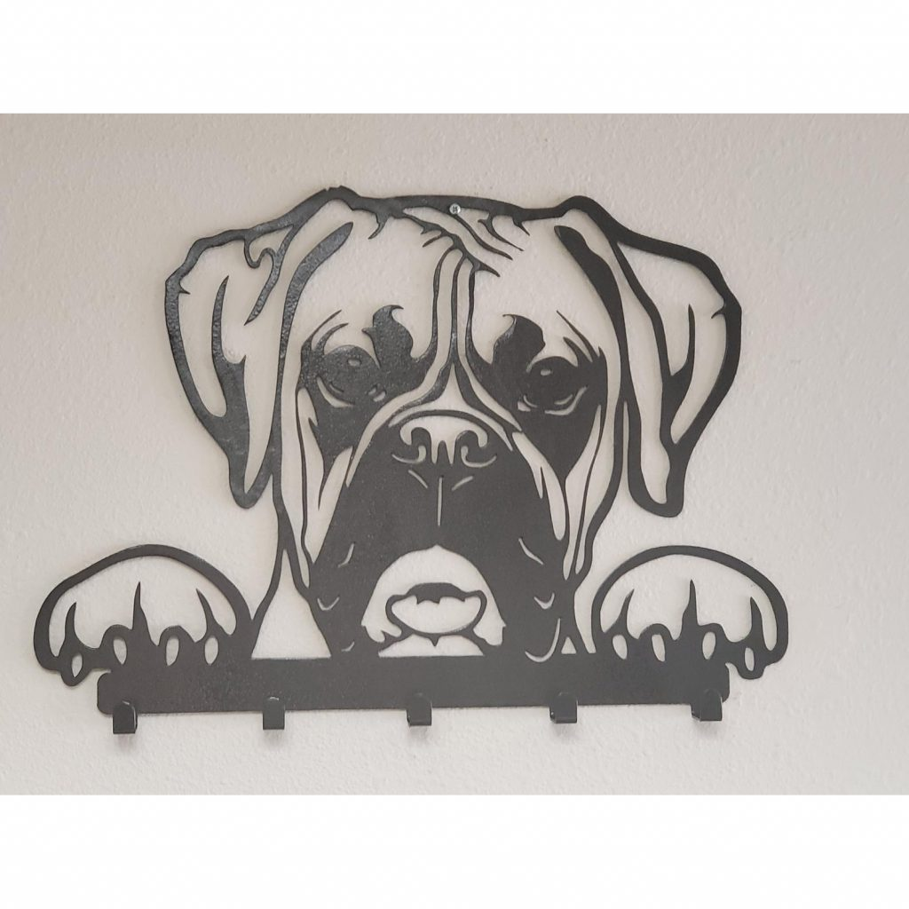 Boxer Dog Coat Rack Hooks via PerformanceMetalwork on Etsy